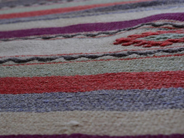 Striped Area Rug 4'X7'