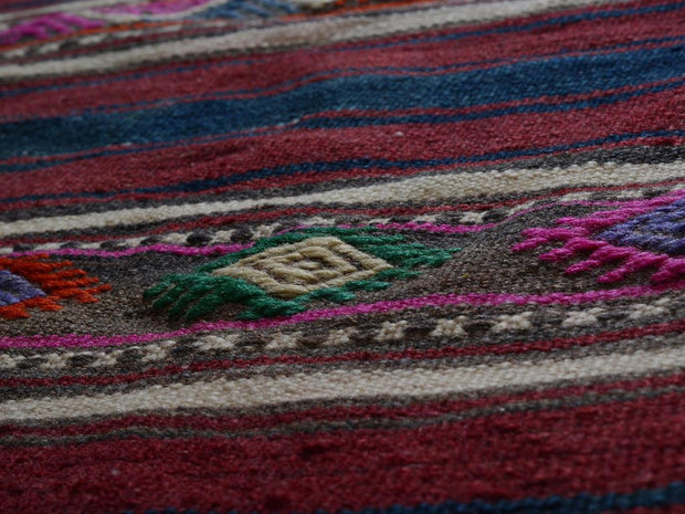 Striped Geometric Area Rug Kilim Rugs