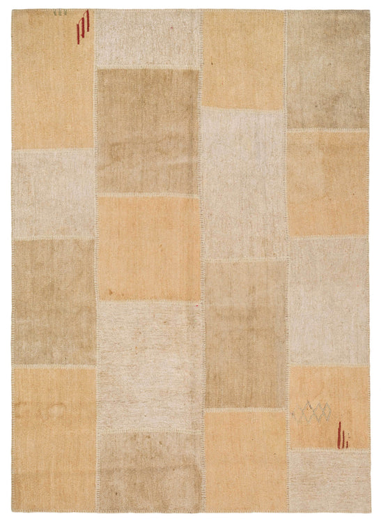 Cream Patchwork Carpet