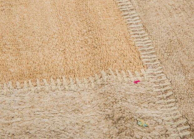 Cream Patchwork Carpet Hemp