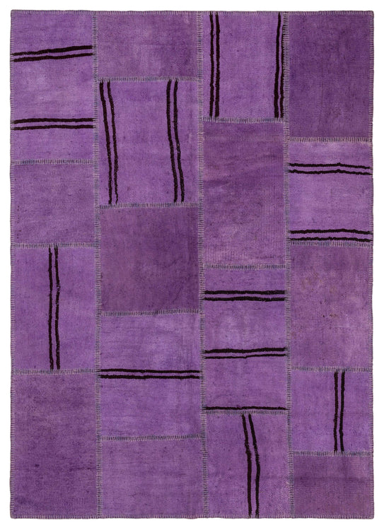 Hemp Patchwork Rug Purple