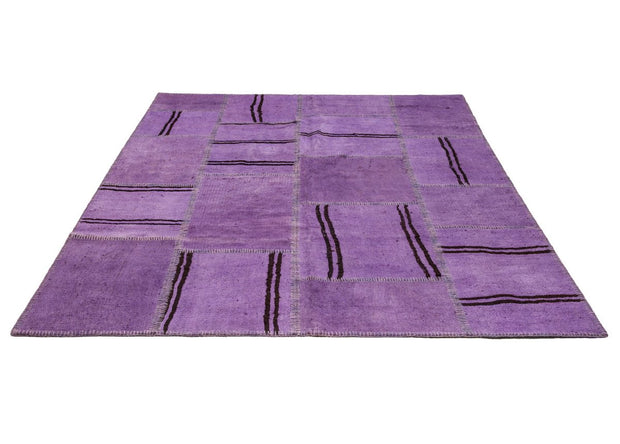 Hemp Patchwork Rug Purple Kilim