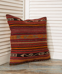 Retro Style Striped Pillow