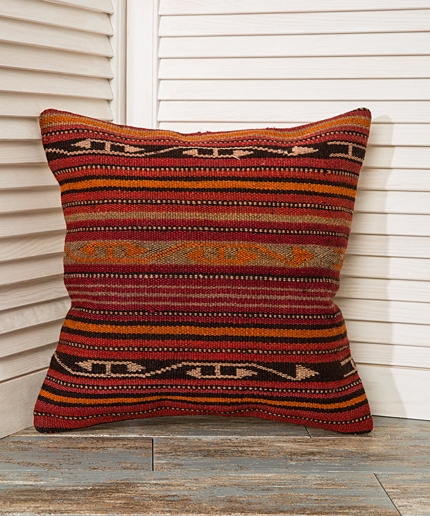 Red Striped Pillow