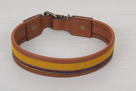Dog Collar - Yellow Color Kilim Large Size Collars