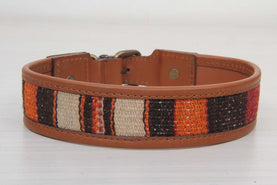 Black And Beige Dog Collar - Large Size Collars