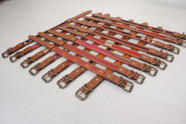 Red Kilim Dog Collars