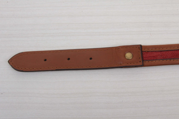 Red Kilim Dog Collar - Medium Size