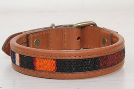 Red And Orange Kilim Pet Accessory Dog Collars