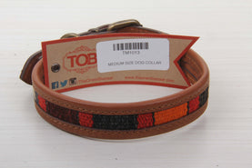 Bohemian Kilim & Leather Dog Collar - Medium Size Collars