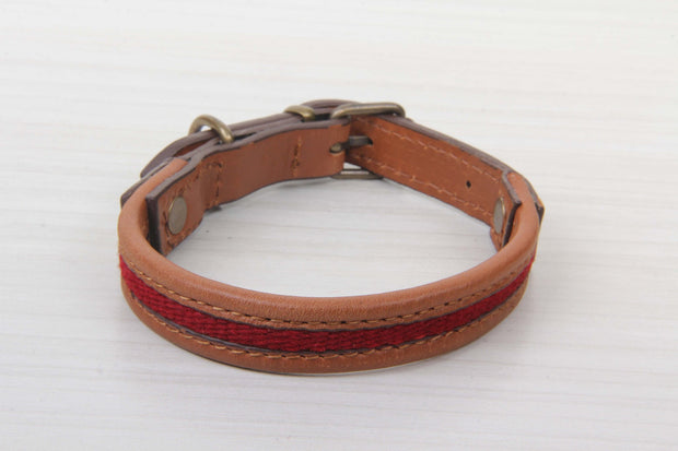 Small Size Dog Collar - Red Color Ultra-Comfort Collars