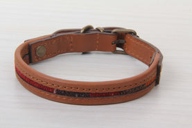 Brown Leather Dog Collar - Small Size Collars