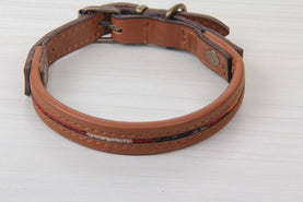 Kilim And Leather Dog Collar - Small Size Collars