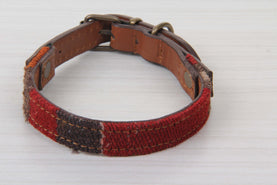 Gray And Burgundy Dog Collar - Small Size Collars
