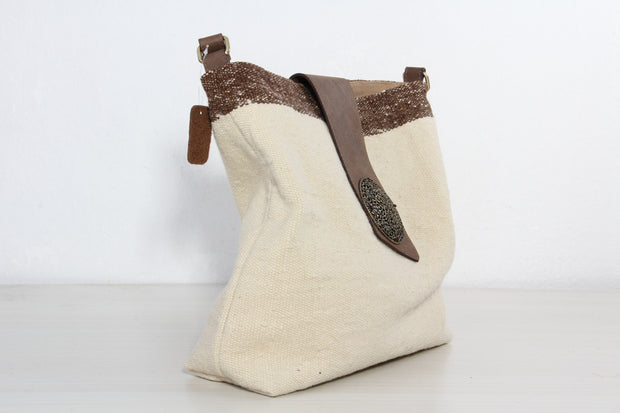 Hobo Shoulder Bag - Beige