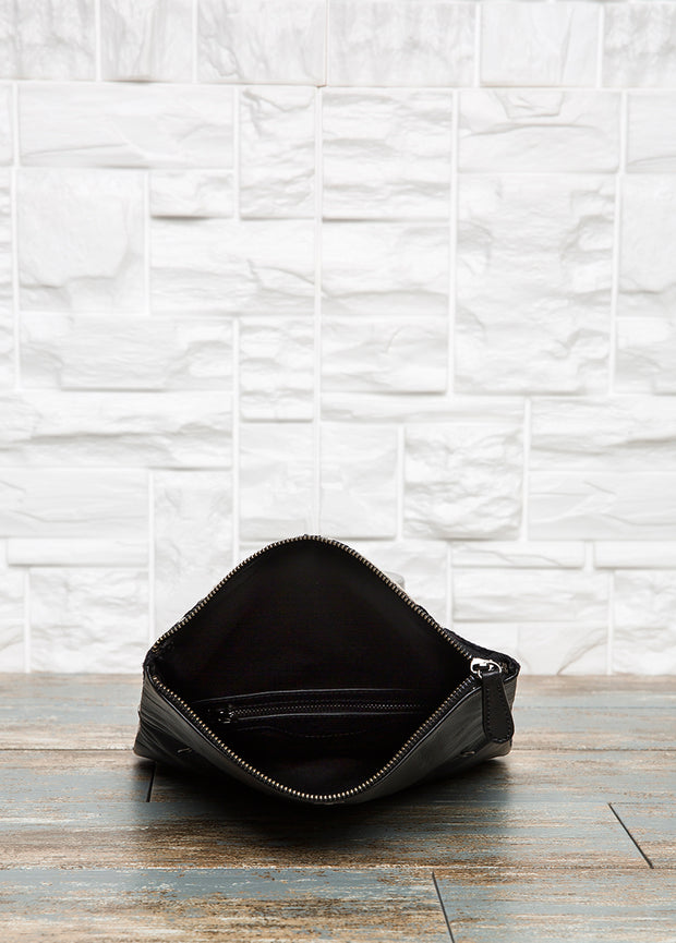 Leather Foldover Clutch - The Orient Bazaar