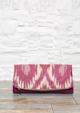 Foldover Ikat Bag