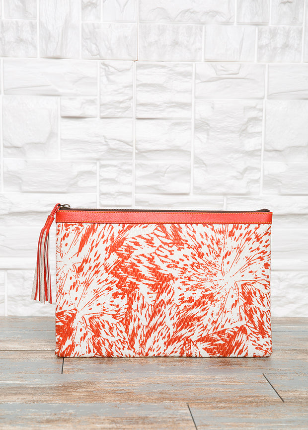 Orange Pouch Purse - The Orient Bazaar