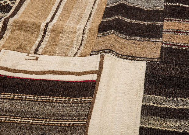 Brown Patchwork Rug Kilim
