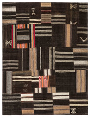 Brown Patchwork Rug