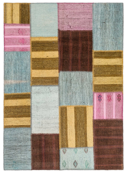 Tribal Kilim Patchwork Rug