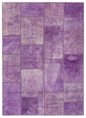 Lilac Patchwork Rug