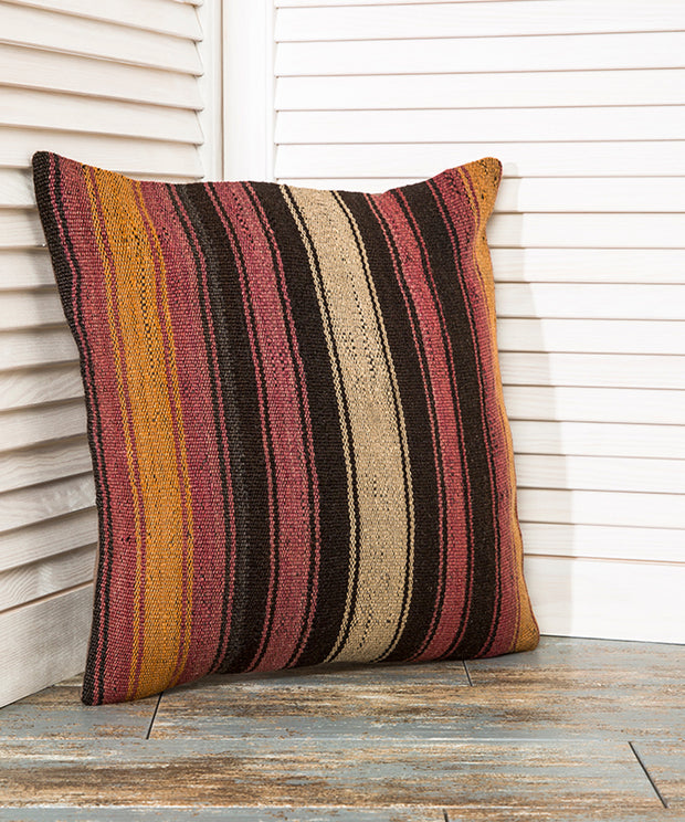 Pink And Brown Pillow Kilim Pillows