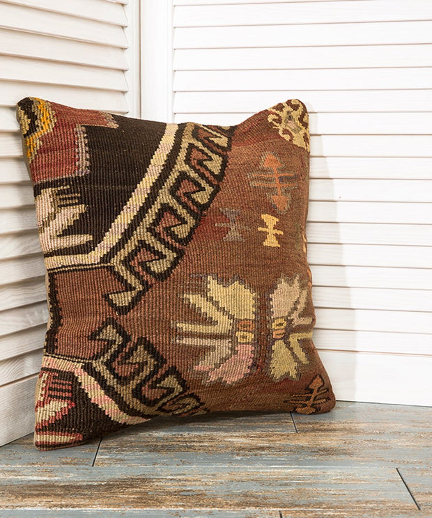 Brown Kilim Pillow Pillows