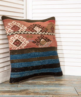 Blue Kilim Pillow Pillows