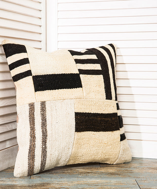 Black And White Pillow Kilim Pillows