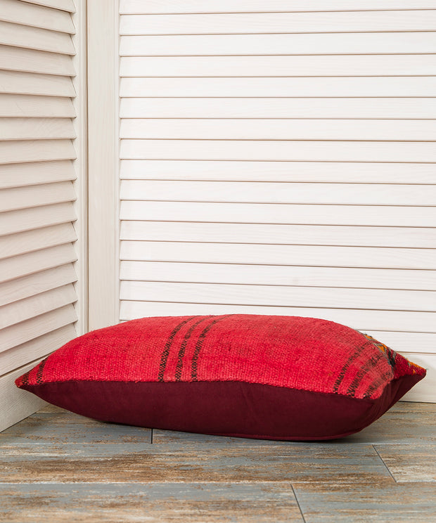 Red Lumbar Pillow