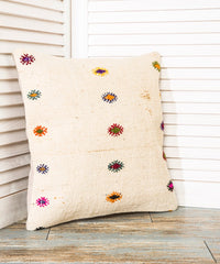 White Kilim Pillow