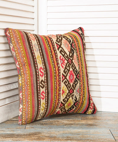 Embroidered Kilim Pillow