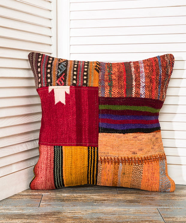 Patchwork Throw Pillow Kilim Pillows