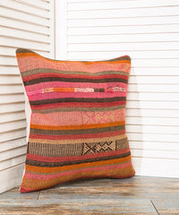 Striped Throw Kilim Pillow