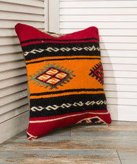 Black and Orange Throw Pillow
