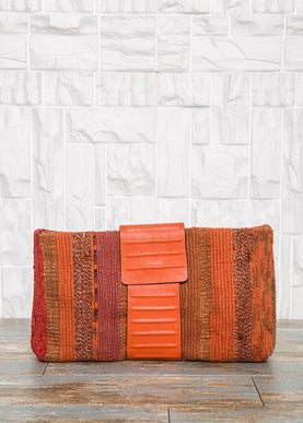 Orange Leather Clutch Bag Bags