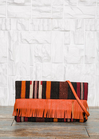 Foldover Boho Clutch Bag
