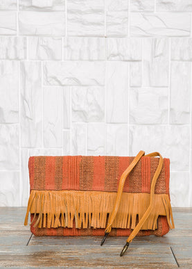 Foldover Orange Clutch Bag Bags