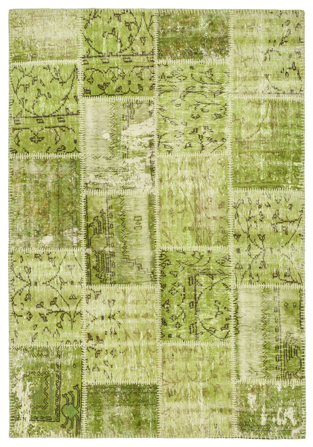 Green Patchwork Rug