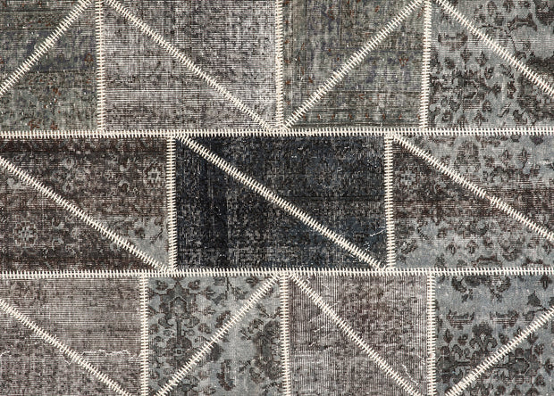 Gray Patchwork Rug