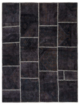 Black Patchwork Carpet