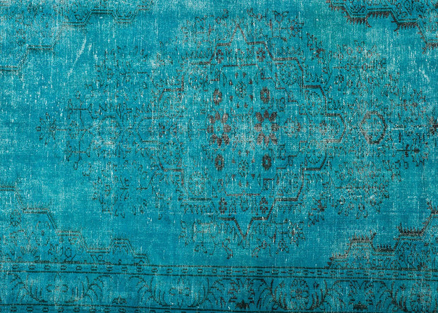 Turquoise Overdyed Rug Recolored Carpets