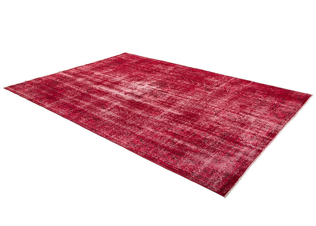 Red Overdyed Rug Recolored Carpets