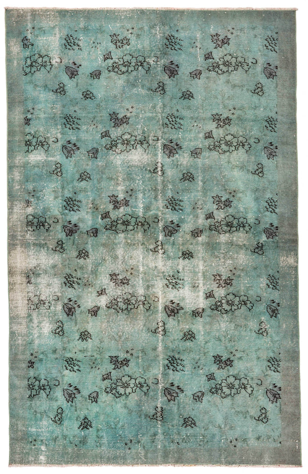 Green Overdyed Rug Recolored Carpets