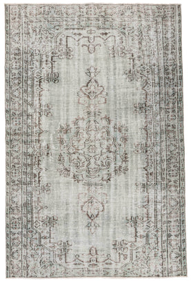Ice Blue Overdyed Rug Recolored Carpets