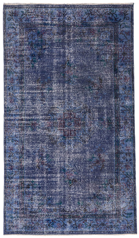 Navy Blue Contemporary Rug Recolored Carpets