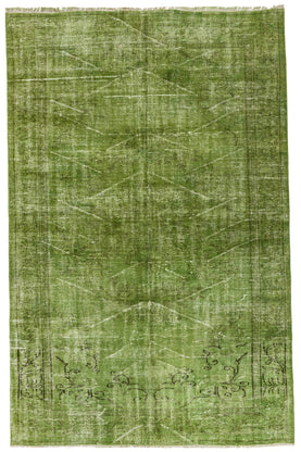 Green Vintage Rug Recolored Carpets
