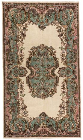 Natural Anatolian Vintage Rug Recolored Carpets