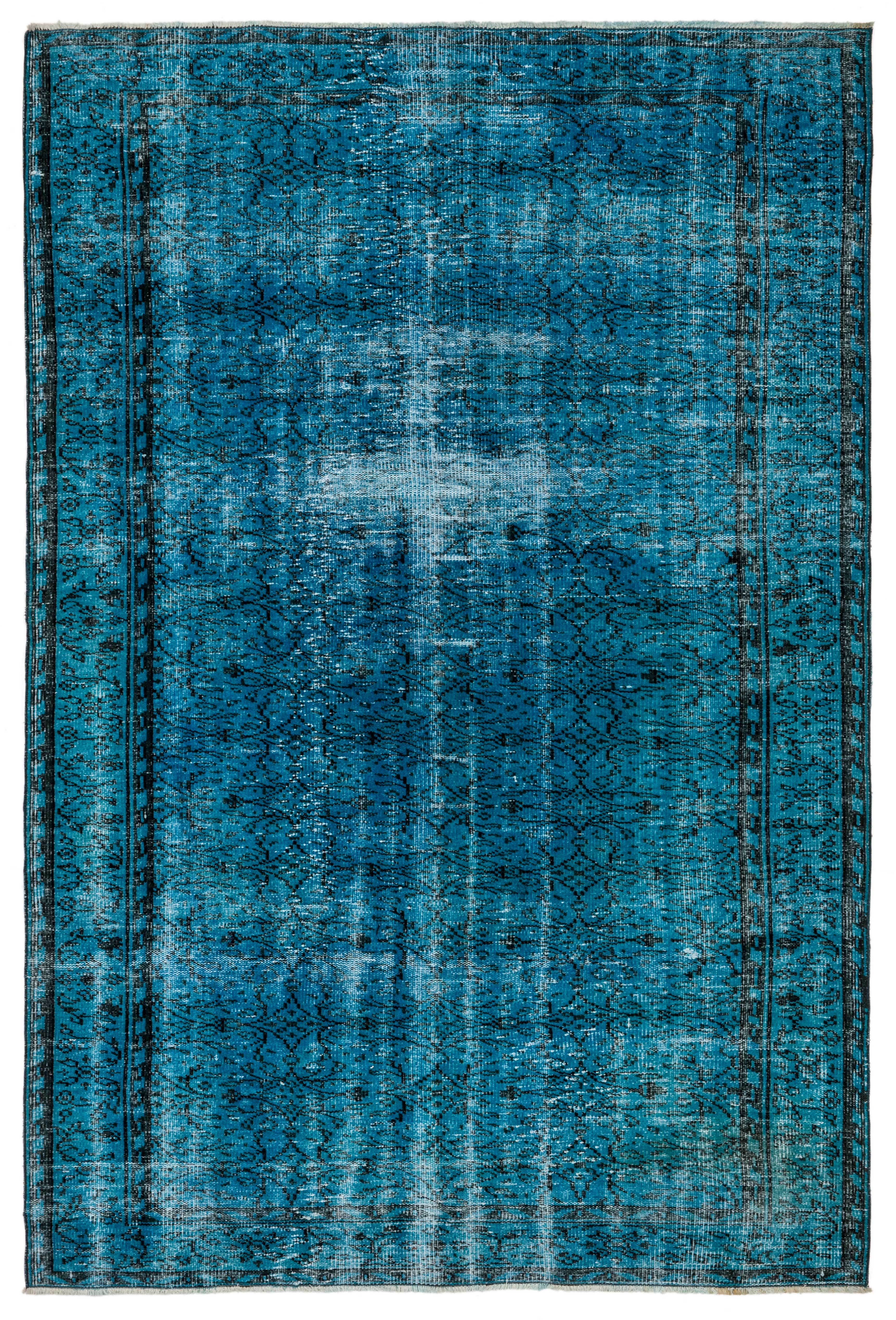 Blue Rugs Vintage Area Rug Southwestern Rugs Eclectic Faded